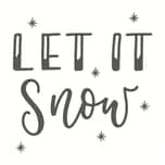 May&Berry Stempel Let it snow weiß 45x45mm