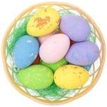 Ostereier im Nest mehrfarbig 12 Stück