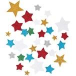 Rico Design Moosgummi Sterne Glitter selbstklebend