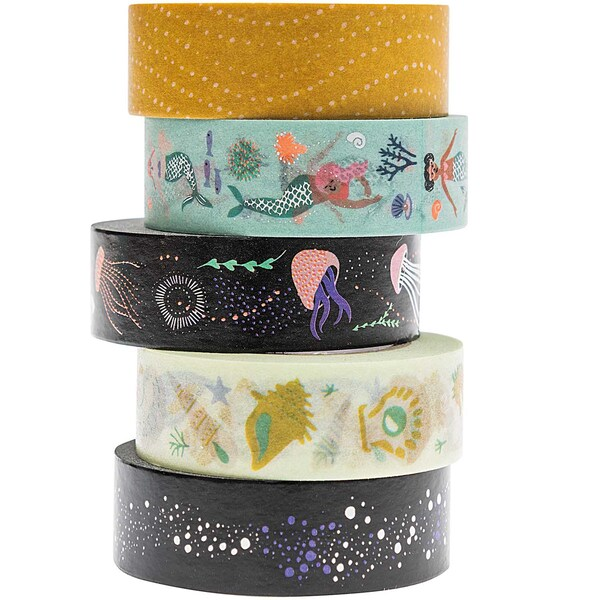 Paper Poetry Tape Set Mermaid 5teilig