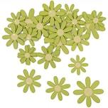 Rico Design Blüten aus Holz grün 12 Stück