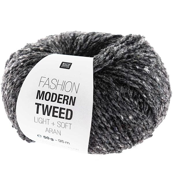 Rico Design Fashion Modern Tweed aran 50g 95m grau