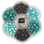 Rico Design Renaissance Perlenset türkis Mix