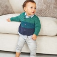 Strickset Jacke Modell 11 aus Rico Baby Nr. 023 98/104