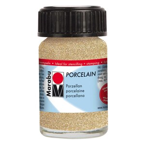 Marabu Porcelain 15ml glitter-gold