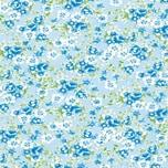 décopatch Papier Blümchen blau 3 Bogen