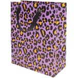 Paper Poetry Geschenktüte Acid Leo flieder-orange 26x32x12cm