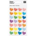 Paper Poetry Sticker Herzen mehrfarbig groß