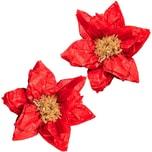 YEY! Let's Party Seidenpapierblumen Weihnachtsstern 40cm 2 Stück rot