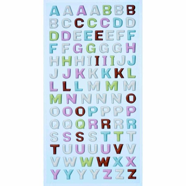 HobbyFun SoftySticker Großbuchstaben pastell 17,5x9cm