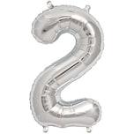 Rico Design Folienballon Zahl silber 36cm 2