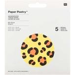 Paper Poetry Seidenpapier Acid Leo 50x70cm 5 Bogen gelb
