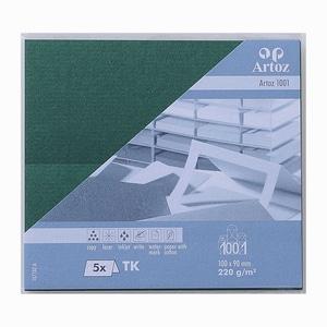 Artoz Tischkarte Serie 1001 220g/m² 5 Stück racing green