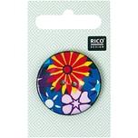 Rico Design Knopf mit Blüten abstrakt 3,4cm
