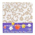 MARPA JANSEN Faltblätter transparent Blüten gold 15x15cm 32 Stück