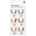Paper Poetry 3D Sticker Rentier puder