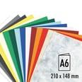 Artoz Doppelkarte S-Line A6 200g/m² 5 Stück marmoriert gelb