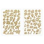 Jewellery Made by Me Bügelmotive Buchstaben A-Z gold glitter