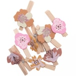 Ohhh! Lovely! Dekoklammern Blüte 8 Stück mauve
