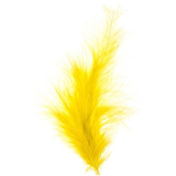 Dekofedern 15 Stück gelb