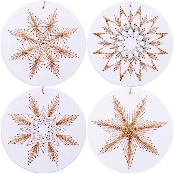 Rico Design Anhänger Weihnachtskugel zum Besticken weiß 8 Stück