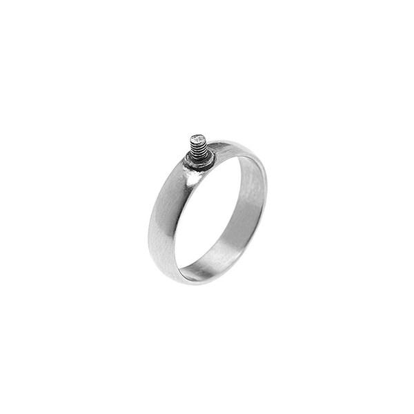 Rico Design Ring schmal 19mm Schraubgewinde silber