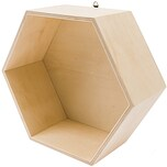 Rico Design Holzbox sechseckig 21,5x25x10cm