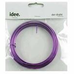 Aludraht 2mm 5m violett