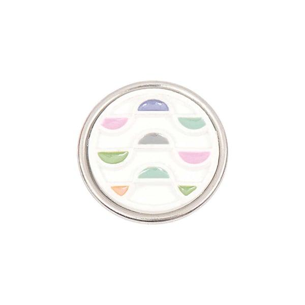 Rico Design Knopf Grafiken mehrfarbig pastell 14mm