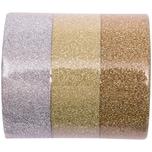 Rico Design Glitter Tape Set 1,5cm 5m gold/silber