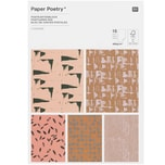 Paper Poetry Postkartenblock Struktur 15 Stück