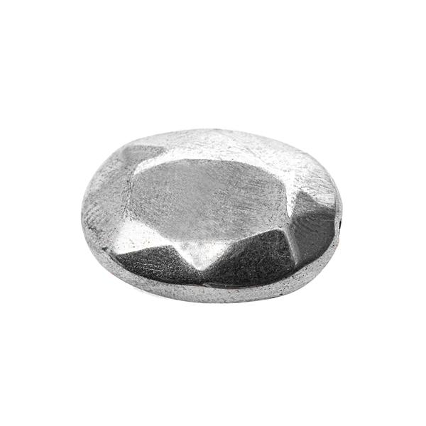 Jewellery Made by Me Scheiben oval silber 25x17mm 4 Stück mit Facetten
