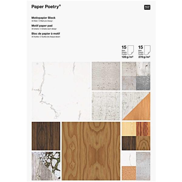 Paper Poetry Motivpapier Block Architektur 21x30cm 30 Blatt