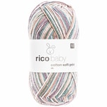 Rico Design Baby Cotton Soft Print dk 50g 125m petrol-flieder