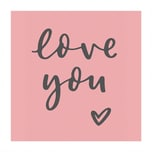 May&Berry Stempel Love You 35x45mm