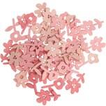 Ohhh! Lovely! Holzstreu Blume 48 Stück rosa Mix