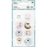 Paper Poetry Sticker Jardin Japonais Katzen 32 Stück