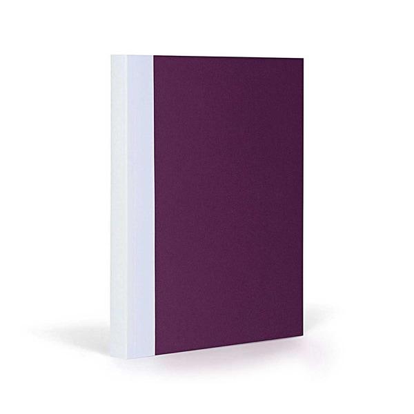 FANTASTICPAPER Notizbuch A5 liniert aubergine-white