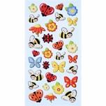 HobbyFun SoftySticker Marienkäfer-Bienen-Schmetterlinge