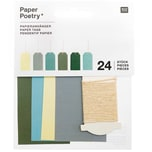 Paper Poetry Papieranhänger groß grün 4,5x8cm 24 Stück