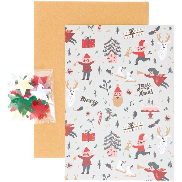 Paper Poetry Grußkartenset Jolly Christmas Classic