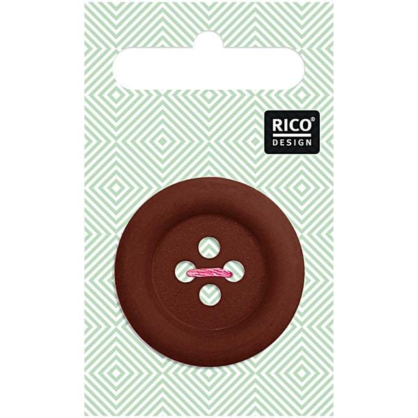 Rico Design Knopf dunkelbraun matt 3,4cm