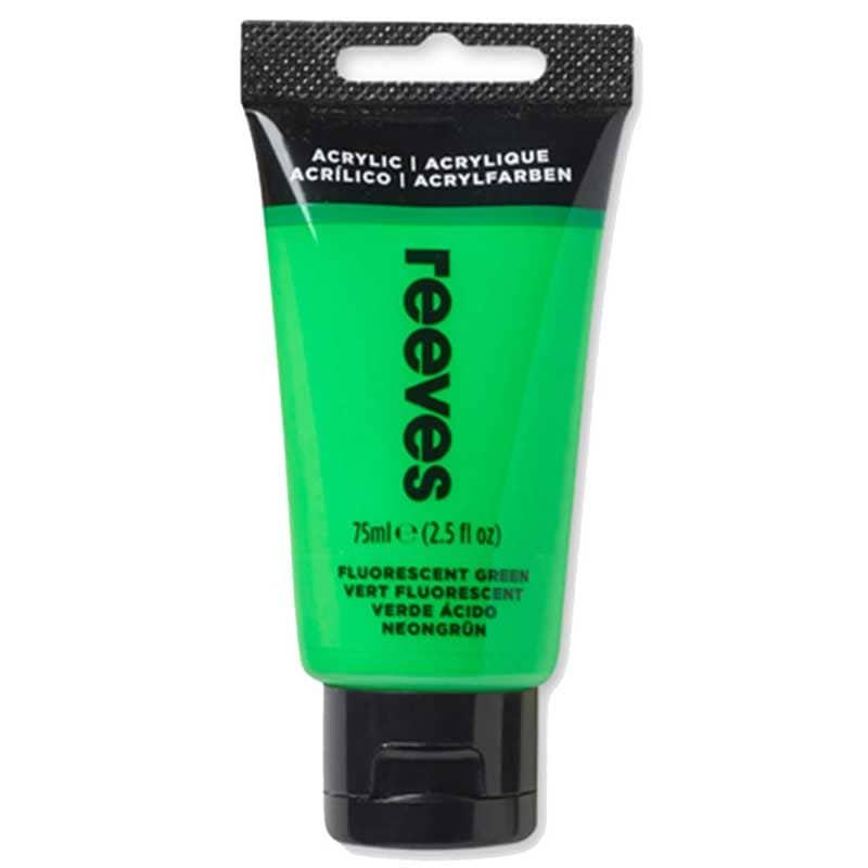 reeves Acrylfarbe 75ml fluoreszierend grün