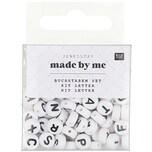 Jewellery Made by Me Buchstaben-Perle rund schwarz-weiß ca. 165 Stück