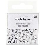 Jewellery Made by Me Buchstabenperle rund schwarz-weiß ca. 165 Stück