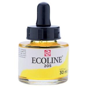 ECOLINE flüssige Wasserfarbe 30ml zitronengelb