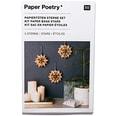 Paper Poetry Bastelset Papiertüten-Sterne klein naturbraun