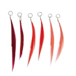 Jewellery Made by Me Federn mit Öse 6 Stück rot