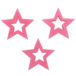 Sternstreu offen 3cm 12 Stück rosa