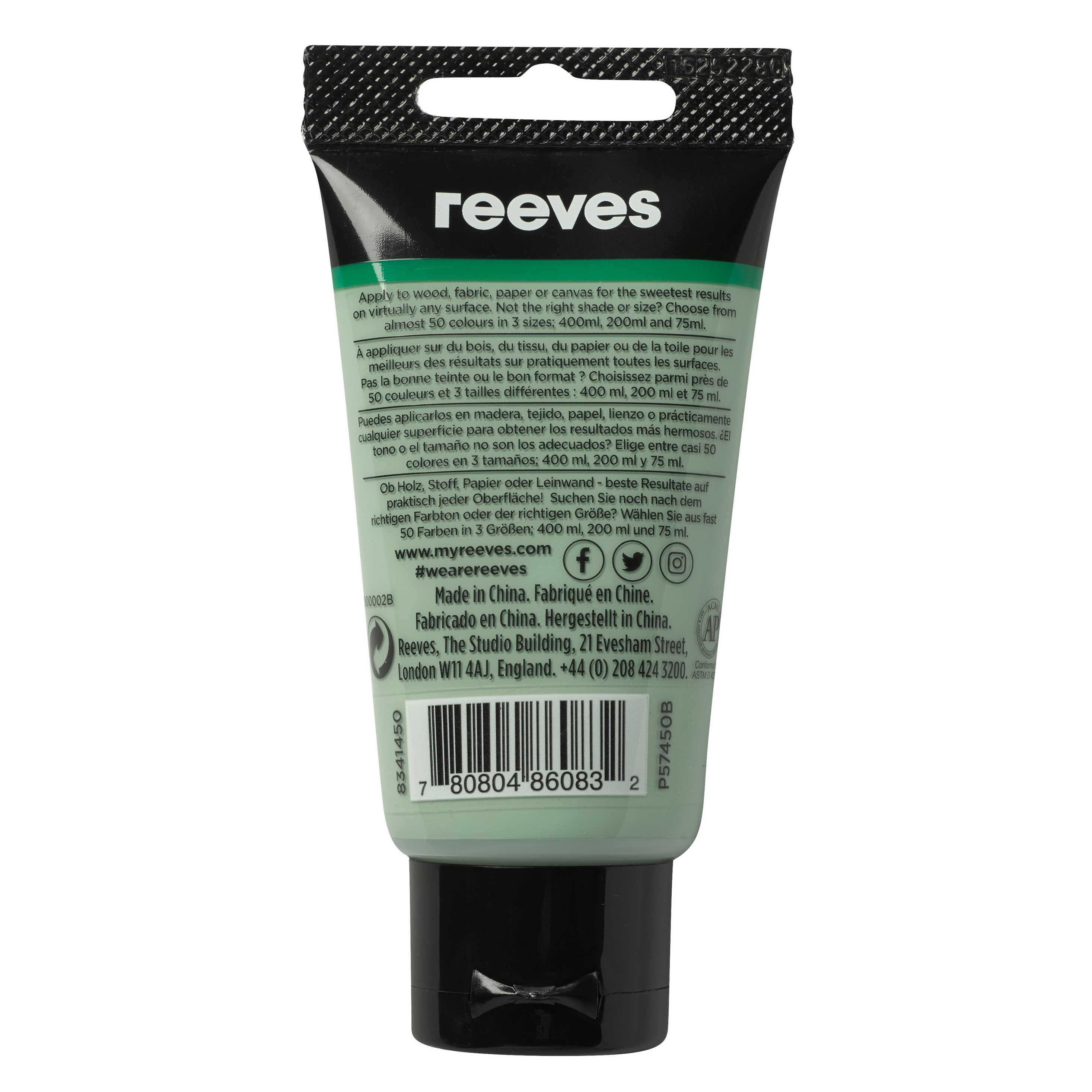 reeves Acrylfarbe 75ml hellolive